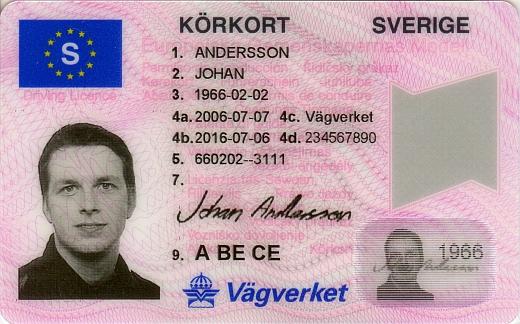 Kørkort i sverige